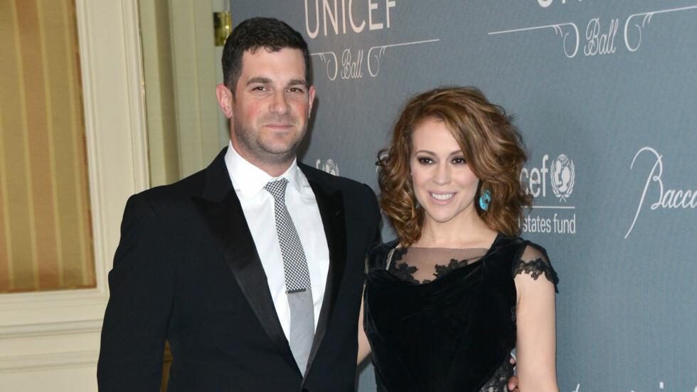 FIKK EN DATTER: Alyssa Milano og Hollywood-agenten David Bugliari er nybakte foreldre.  Foto: All Over Press