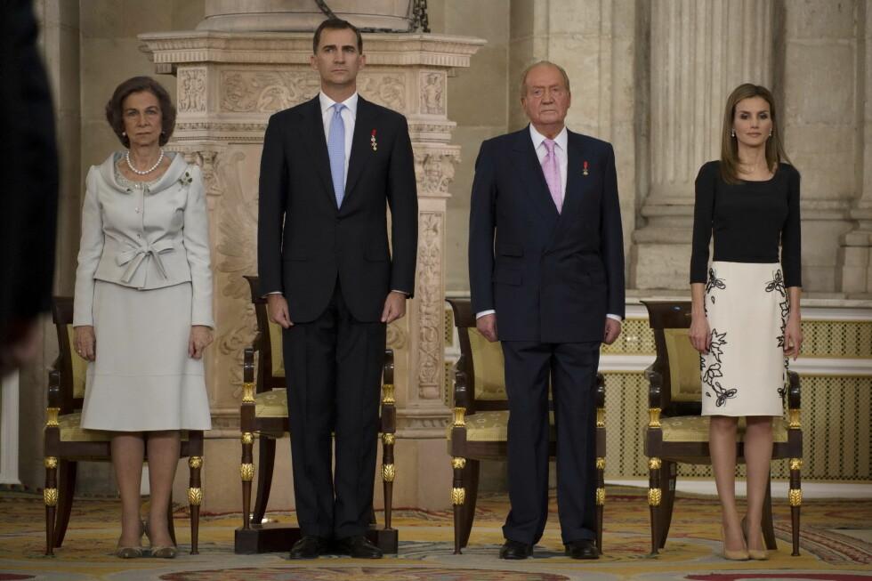 OVERTOK TRONEN: Kong Felipe og dronning Letizia overtok tronen, etter at Juan Carlos abdiserte. Foto: insight media/All Over Press