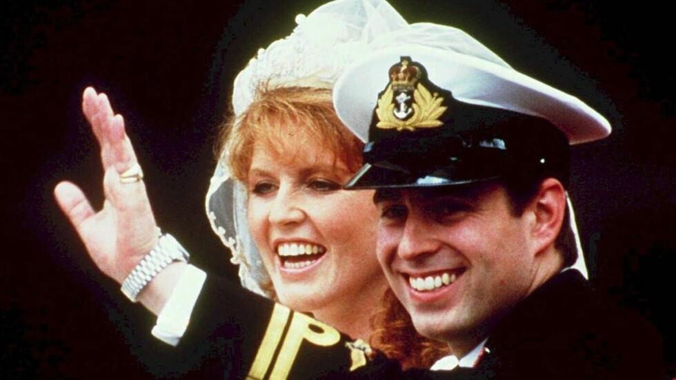 <strong>FORTSATT GODE VENNER:</strong> Prins Andrew og Sarah Ferguson ble skilt etter ti års ekteskap, men er fortsatt like gode venner 18 år etter bruddet. Foto: All Over Press