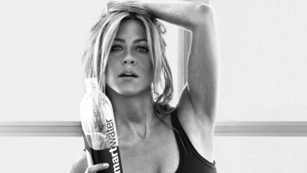 VELTRENTE ARMER: Jennifer Aniston trener yoga tre ganger i uka. Det synes på armene. Foto: All Over Press