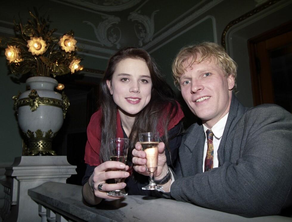 """1993: Sven Nordin og Anne Ryg feirer premieren av """"Romeo og Julie."""" Foto: Aftenposten"""