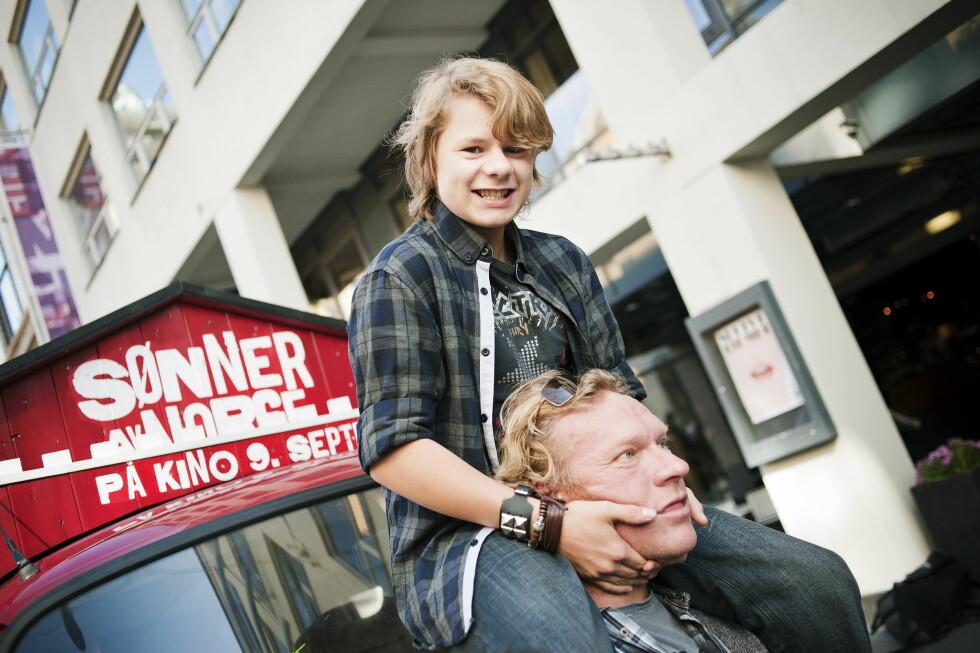 2011: Åsmund Høeg og Sven Nordin hadde hovedrollene i spillefilmen «Sønner av Norge».  Foto: NTB scanpix