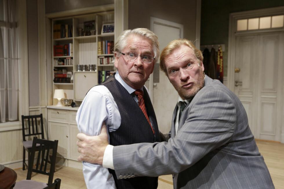"""2014: Nils Vogt og Sven Nordin i forestillingen """"Litt av et par"""". Foto: NTB scanpix"""