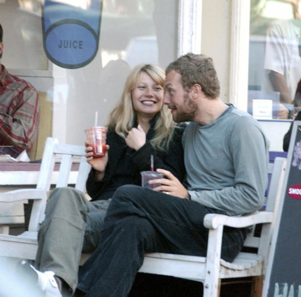 FORTSATT VENNER: Paltrow og Martin er gode venner etter bruddet. Foto: Splash News/ All Over Press