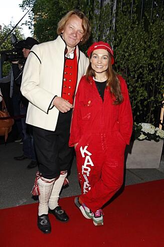 16. MAI FEST: Sist gang Jan Eggum og Kaia Huuse dukket opp på en rød løper sammen, var på årets 16. mai-fest i regi av hotellkongen Petter Stordalen. Da kom Kaia utkledd som rødruss.
