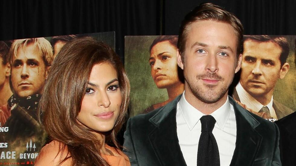 IKKE PLANLAGT: Ryan Gosling skal ha blitt svært overrasket over graviditeten til Eva Mendes. Foto: ALL OVER PRESS