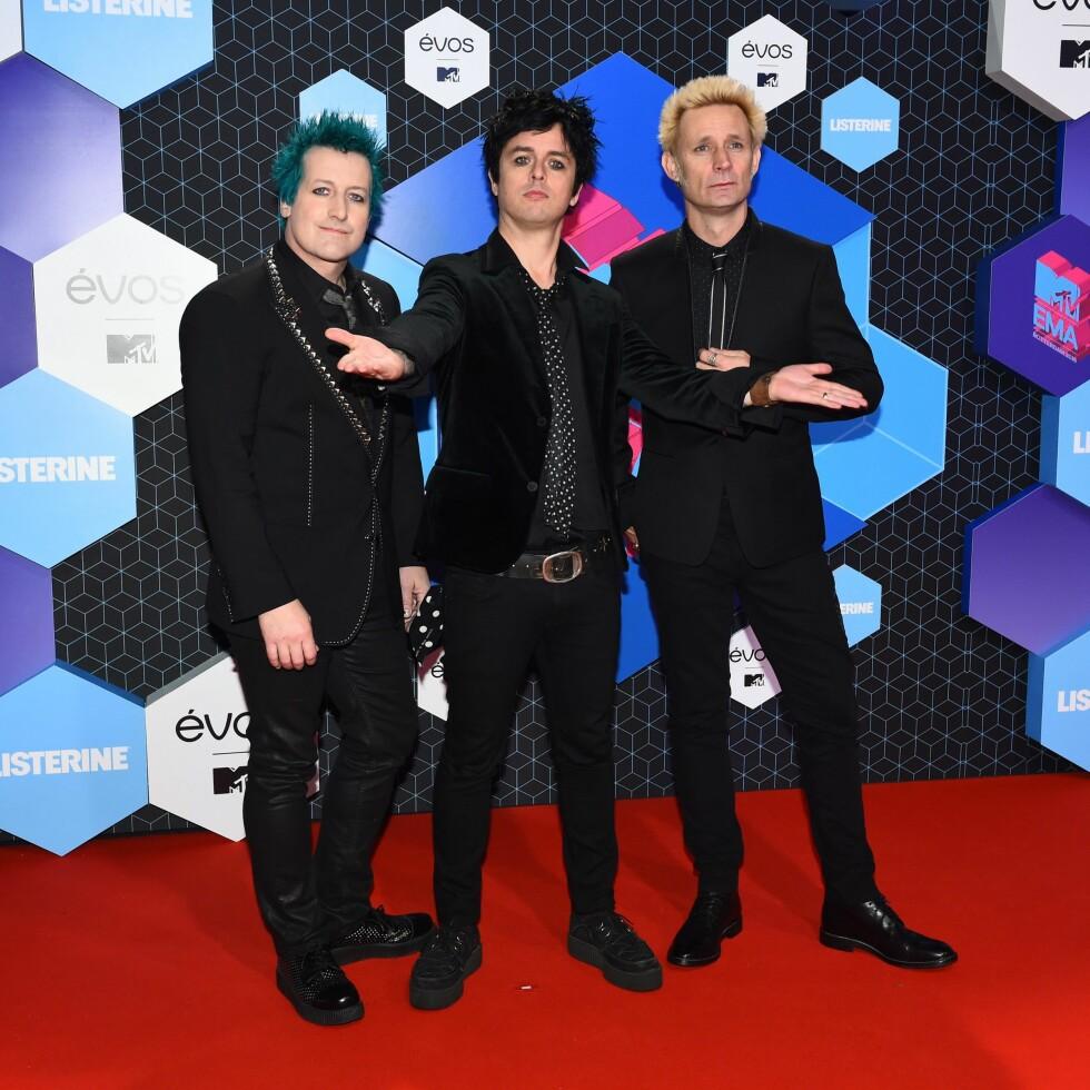 Pop rock bandet Greenday. Foto: Xposure