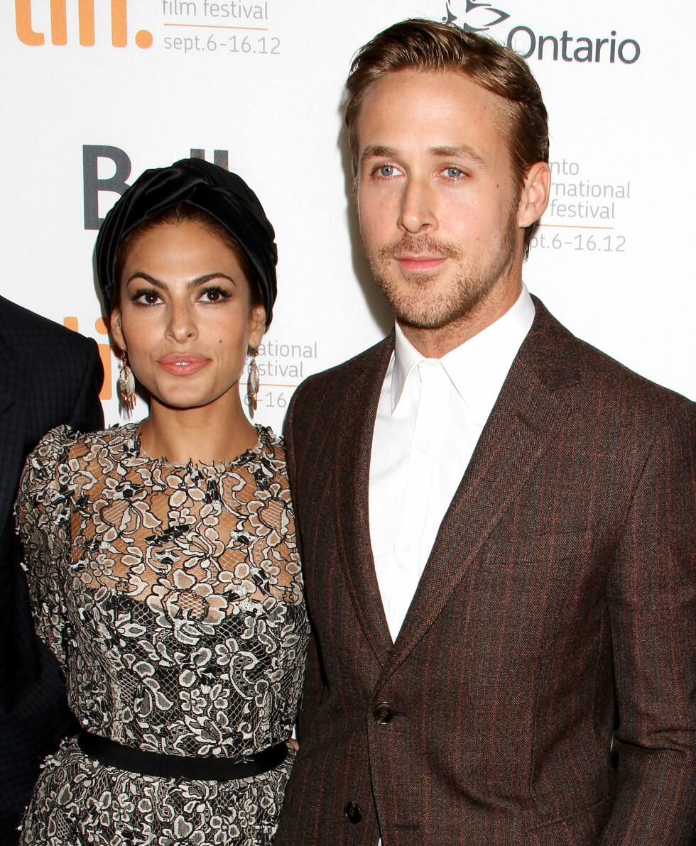BLIR FORELDRE: Trolig skal Eva Mendes og Ryan Gosling snart få barn sammen.  Foto: REX/Broadimage/All Over Press
