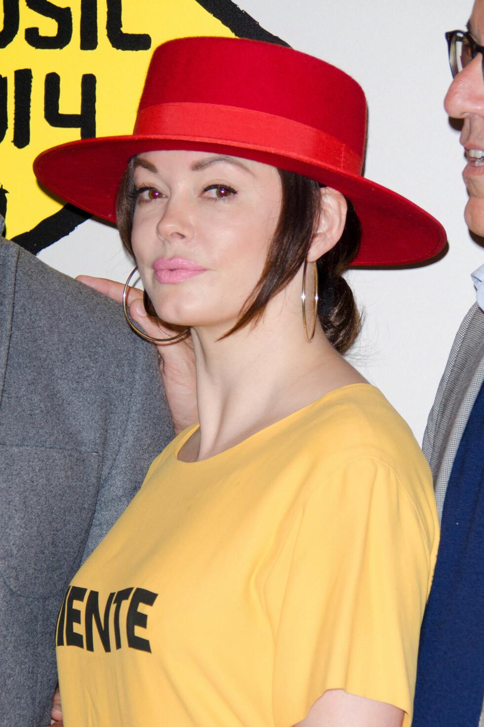 VÅREN 2014: En litt stram Rose McGowan på åpningen av  Sundance London Film & Music Festival i slutten av april i år. Foto: Stella Pictures