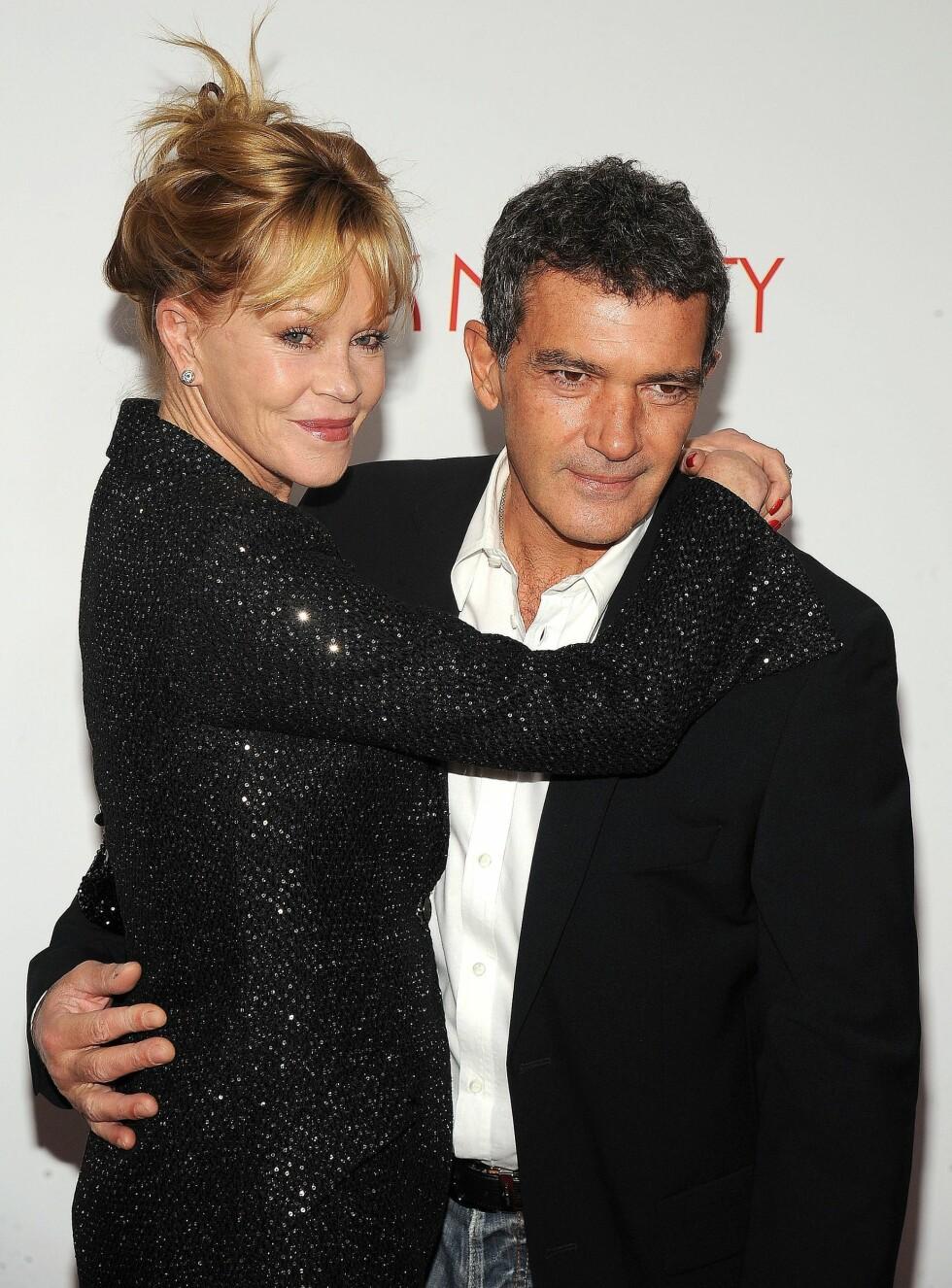 <strong>SKILLES:</strong> Melanie Griffith og Antonio Banderas skilles etter 18 år som ektepar. Foto: REX/Picture Perfect/All Over Press