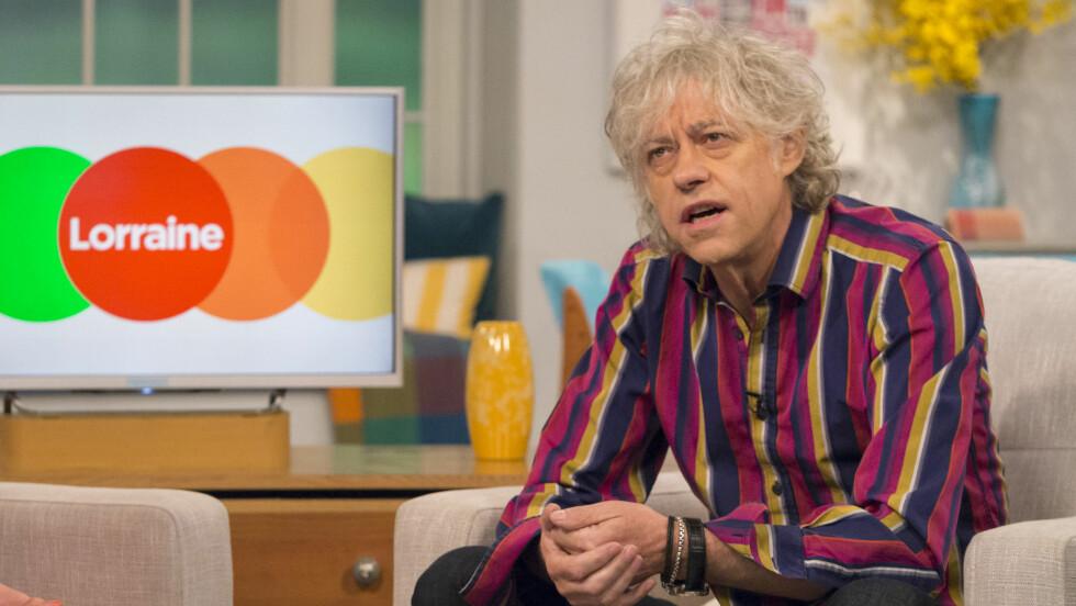 SNAKKET UT: Bob Geldof snakket for første gang ut på TV om datterens død, da han gjestet Lorraine Live. Foto: REX/Ken McKay/ITV/All Over Press