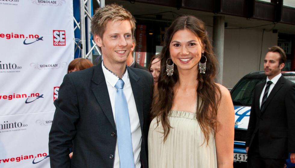 GIFT: Hvarnes giftet seg med Farmen-programleder Gaute Grøtta Grav i 2011.