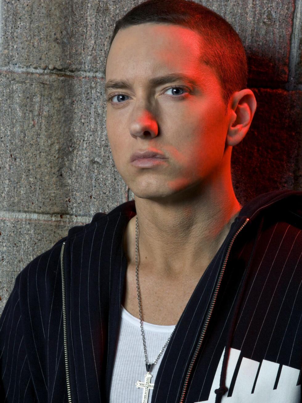 STOLT PAPPA: Eminem har god grunn til å være stolt av datteren, som har fått glimrende karakterer. Foto: All Over Press