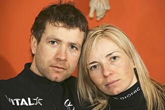EKS-KONA: Ole Einar Bjørndalen med eks-kona Nathalie Santer Bjørndalen.  Foto: Se og Hør
