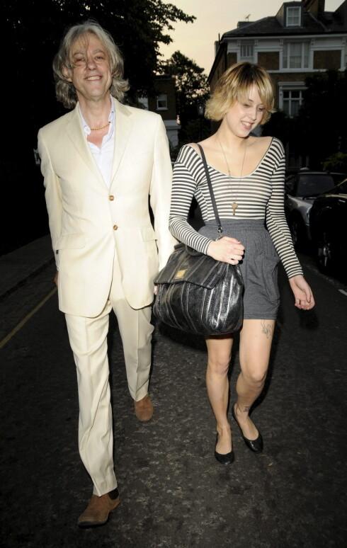 FAR OG DATTER: Bob Geldof og Peaches Geldof fotografert i London i 2009. Foto: Stella Pictures
