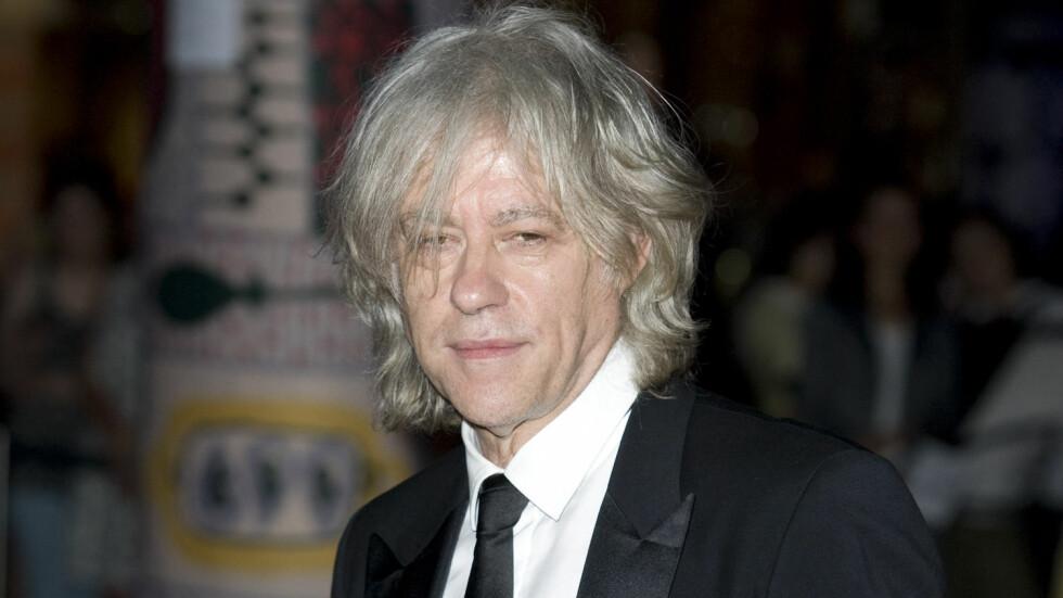 I NORGE: Denne uken besøkte Bob Geldof Stavanger, hvor han holdt foredrag på Aquaculturkonferansen, skriver VG. I helgen var han gjest hos vennen og hotellkongen Petter Stordalen på The Thief i Oslo. Dette bildet er tatt ved en annen anledning. Foto: Stella Pictures