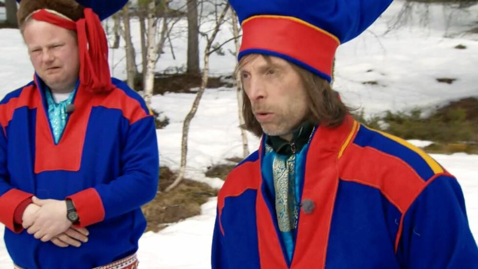 REISER NORGE RUNDT: Morgan Karlsson og Ola-Conny Wallgren reiser blant annet på besøk til samene i sin nye serie fra Norge. Foto: TVNorge