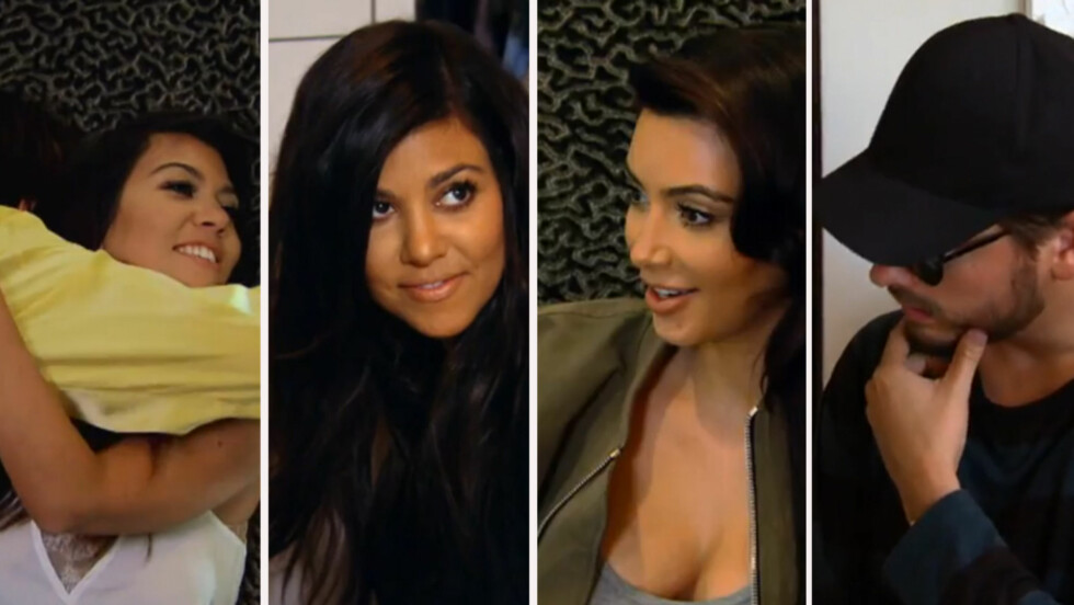 BEKREFTER SVANGERSKAPET: I den nye traileren til realityserien «Keeping up with the Kardashians» avslører Kourtney Kardashian for familien at hun venter sitt tredje barn.
