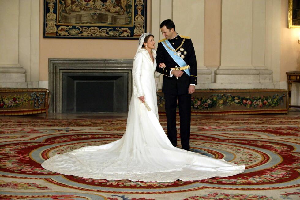 NYGIFT: For ti år siden giftet Letizia og Felipe seg. Foto: All Over