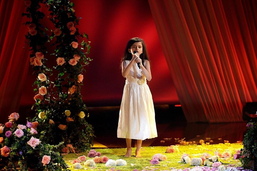 FIKK 46 PROSENT AV STEMMENE: En barfot Angelina sang seg inn i nordmenns hjerter i kveld med sangen Summertime. Foto: FameFlynet