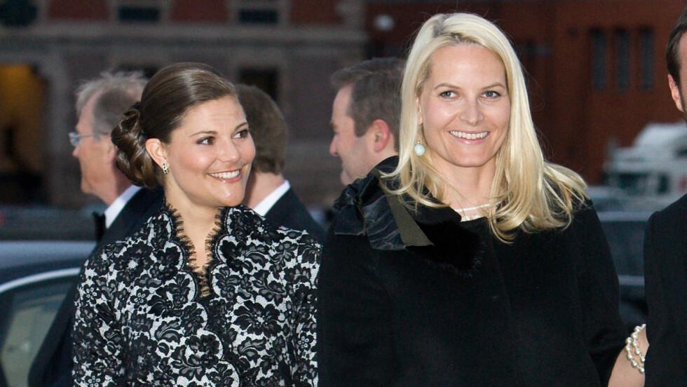 KRONPRINSESSETREFF: Mette-Marit og Victoria skal begge være til stede under åpningen av konferansen EAT i Stockholm. Foto: Andreas Fadum