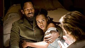 SUKSESS: Kerry Washington slo igjennom i filmen «Django Unchained» fra 2012, hvor hun spilte mot blant andre Jamie Foxx. Foto: Supplied by LMK