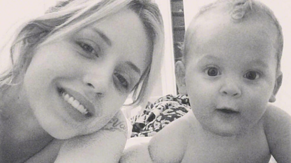FUNNET SAMMEN MED MAMMA: Peaches Geldof var sammen med sønnen på 11 måneder da hun døde.  Foto: DIGITAL/EROTEME.CO.UK/All Over P