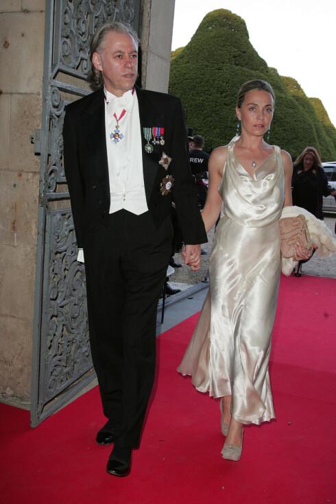 BLIR MANN OG KONE: Bog Geldof og den franske skuespilleren Jeanne Marine møttes i Paris i 1996, og har siden vært kjærester. Det tok Geldof 18 år før han fridde til sin 13 år yngre kjæreste. Her fra en tilsteldning i 2007. Foto: Stella Pictures