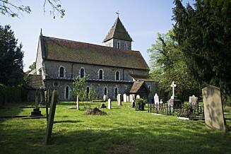 KIRKEN: Peaches Geldof ble stedt til hvile i St Mary Magdalene og St Lawrence kirke i Kent - som hun giftet seg i for to år siden. Foto: REX/Ben Cawthra/All Over Press