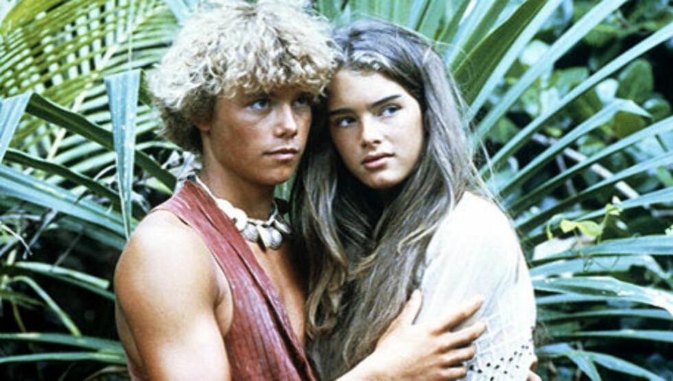 """BARNESTJERNE: Brooke Shields ble verdensberømt da hun som 14-åring spilte inn filmen """"Den blå lagune"""" sammen med Christopher Atkins."""