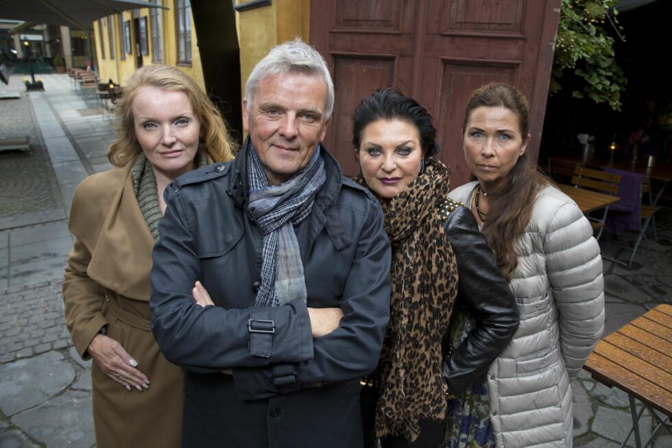 SUKSESS-TV: Augestad (f.v) sammen med programleder Tom Strømnæss, Lilli Bendriss og Gro-Helen Tørum.