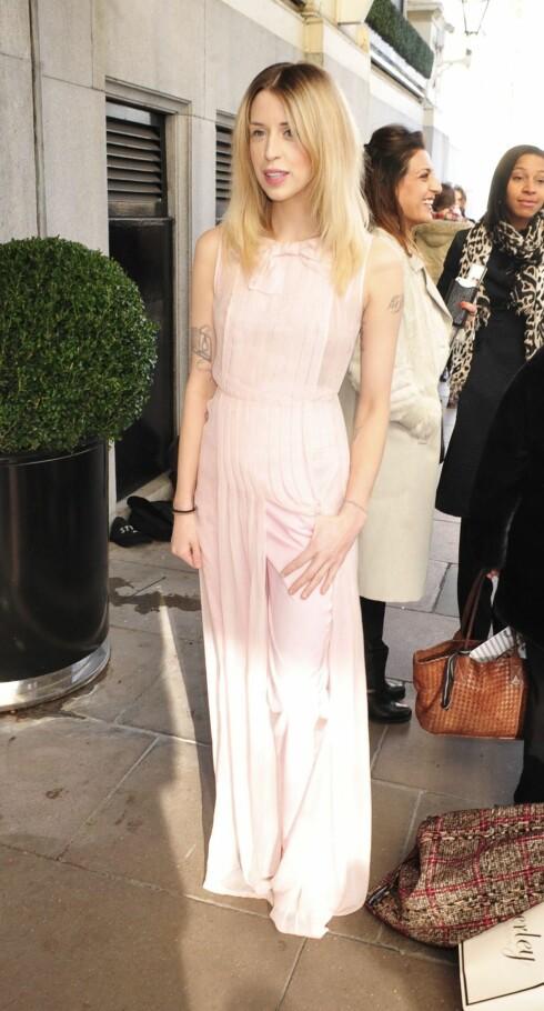 VEKKET OPPSIKT: Selv blant slanke modeller var det Peaches Geldofs tynne figur vekket oppsikt under London Fashion Week i februar. Foto: REX/Stephen Coke/All Over Press