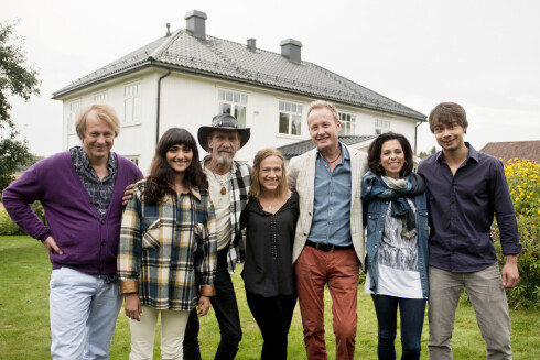 HVER GANG VI MØTES: Lars Lillo-Stenberg, Samsaya, Elg, Anneli Drecker, Sigvart Dagsland, Simone og Alexander Rybak.