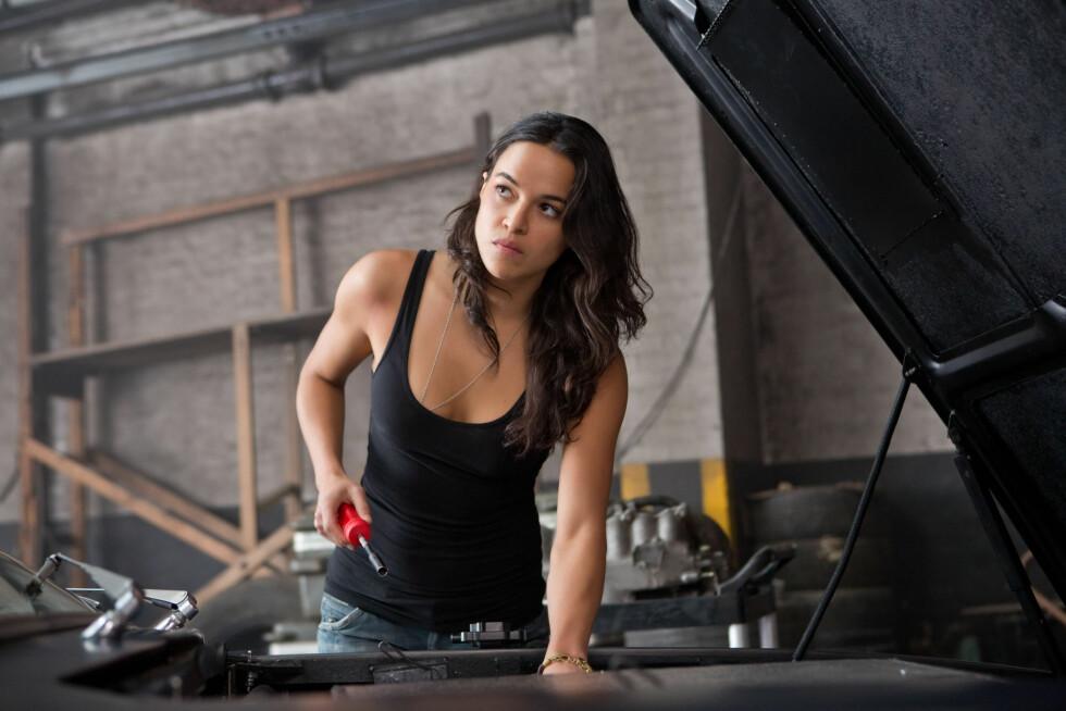 <strong>KJENT FRA BILFILMER:</strong> Rodriguez er kjent fra «The fast and the furious»-filmene og «Avatar». Hun spiller for tiden inn «The fast and the furious 7».  Foto: LFI/Photoshot