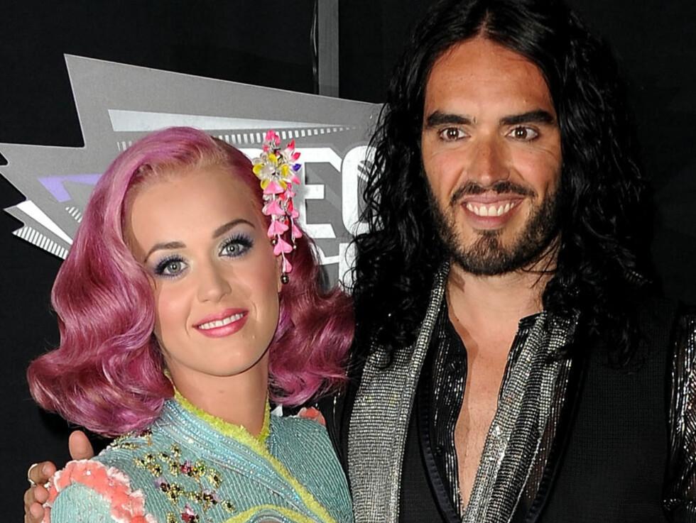 EKSKJÆRESTEN: Russell Brand har tidligere vært gift med den amerikanske popstjernen Katy Perry. Foto: All Over Press