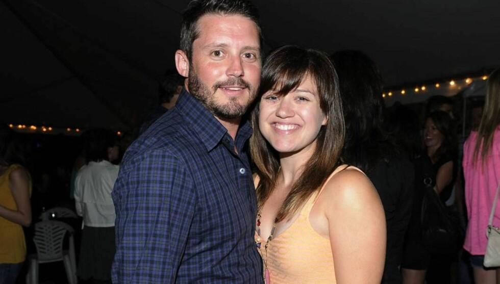 FORLOVET: Kelly Clarkson og Brandon Blackstock blir mann og kone. Foto: All Over Press