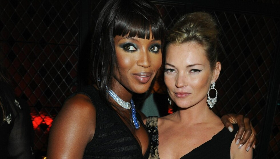 VETERANER: Naomi Campbell og Kate Moss har vært to av verdens mest kjente fotomodeller siden 90-tallet. Foto: All Over Press