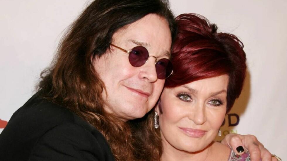 """LIVREDD FOR Å FÅ KREFT IGJEN: Sharon Osbourne tok ingen sjanser da hun fant ut at hun er bærer av et brystkreft gen. Her med ektemannen og """"Black Sabbath""""-vokalisten Ozzy Osbourne."""