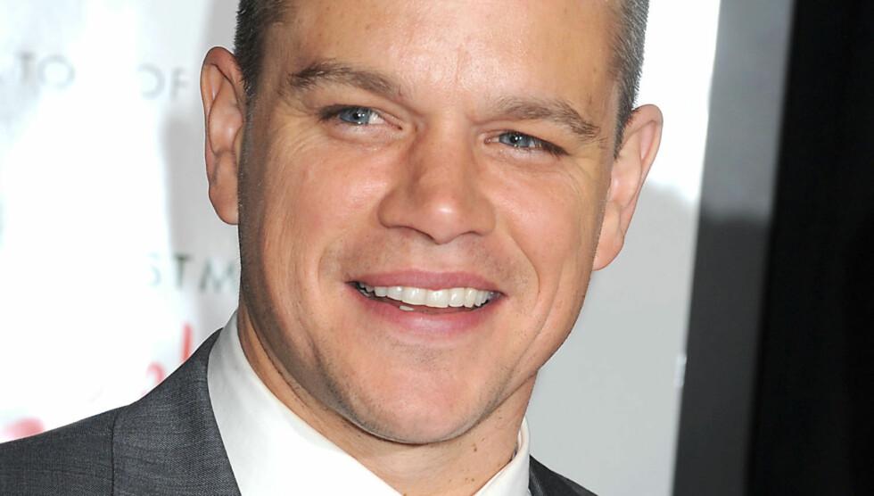 BURSDAGSBARN: Matt Damon feiret 42-årsdagen på nattklubb i London nylig. Foto: Stella Pictures