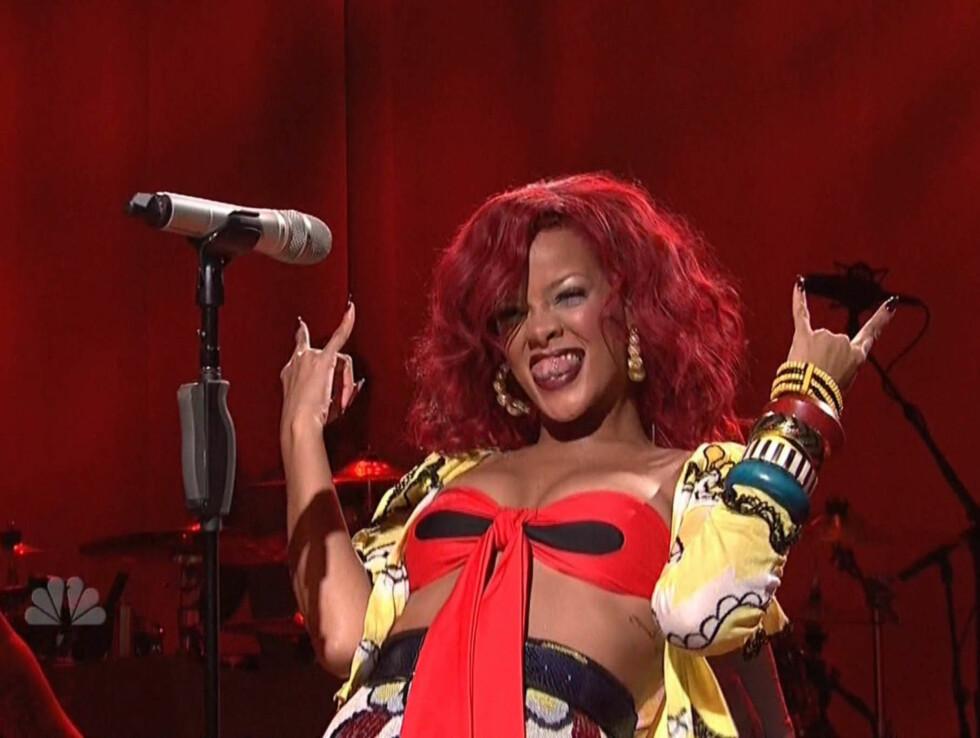 I SÆRKLASSE: Popstjernen Rihanna er bare 23 år, men er allerede verdens mestselgende digitale artist, melder MTV. Foto: Stella Pictures