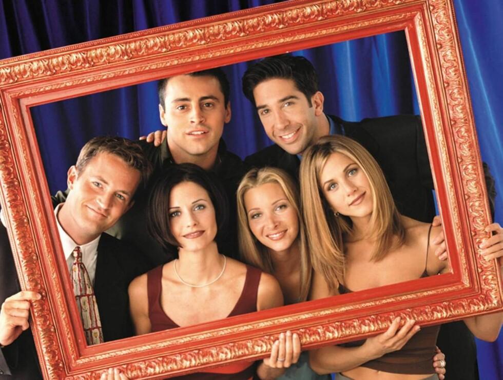 POPULÆR GJENG: Matthew Perry (t.v) ble sammen med Matt LeBlanc, David Schwimmer, Courtney Cox, Lisa Kudrow og Jennifer Aniston superstjerner gjennom suksesserien «Friends». Foto: AP