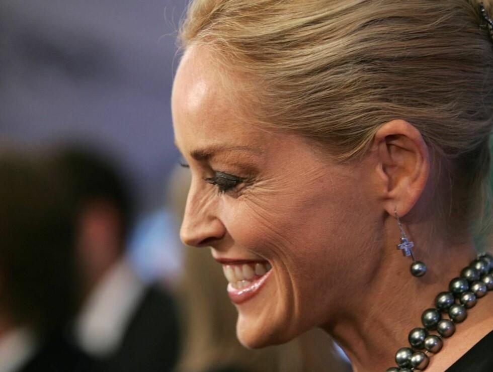 VALGTE VENNINNEN: Sharon Stone fikk selv velge sin Nobel-makker. Foto: All Over Press