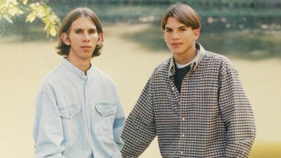 FEM MINUTTER ELDRE: Ashton Kutchers tvillingbror Michael (til venstre) er fem minutter eldre enn superstjernen. Foto: Tom Vickers / Splash News/ All Over Press