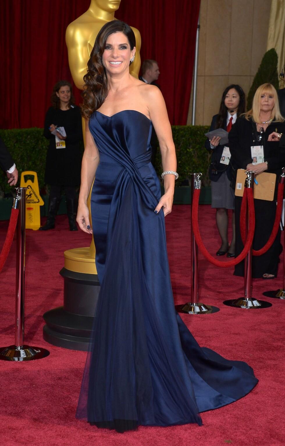 """Sandra Bullock (49) er nominert til Oscar for beste kvinnelige skuespiller i """"Gravity"""". Foto: REX/Stewart Cook/All Over Press"""