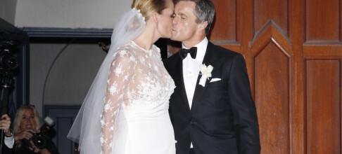 Nå er de gift!
