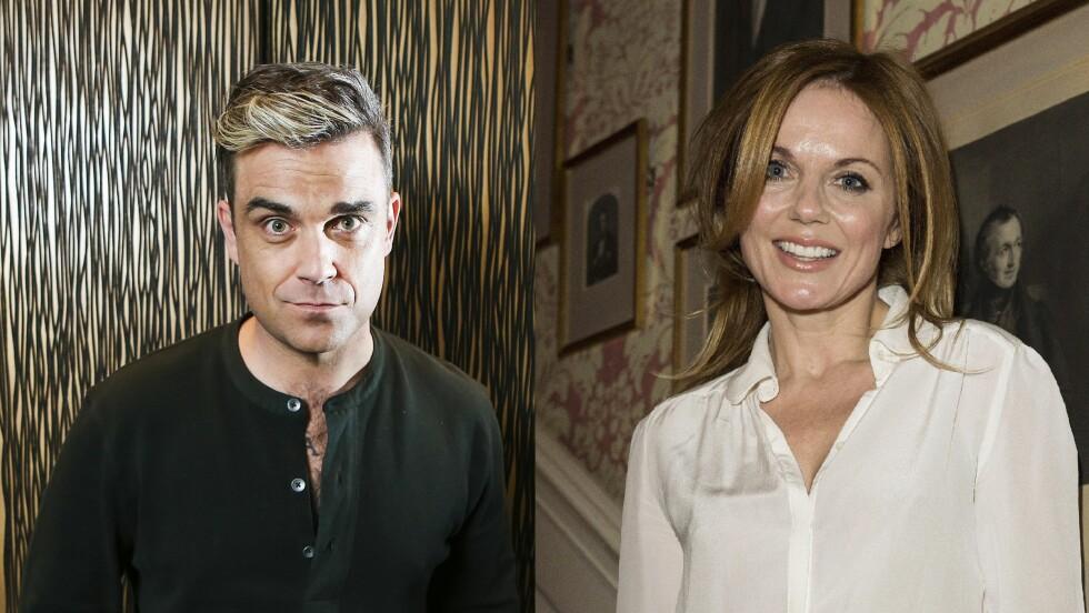 DÅRLIGE MINNER: Robbie Williams slenger dritt om sin tidligere sengekamerat Geri Halliwell. Foto: All Over Press
