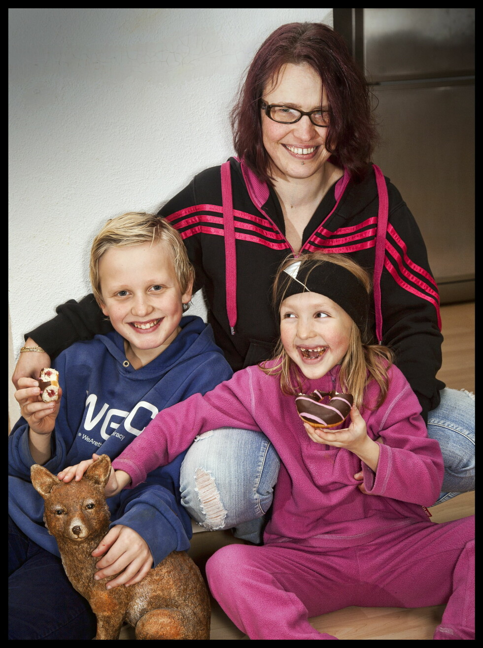 TOBARNSMOR: Lene risikerte livet for å bli mor til Adrian og Kjersti. Begge barna hennes er født lenge før termin.