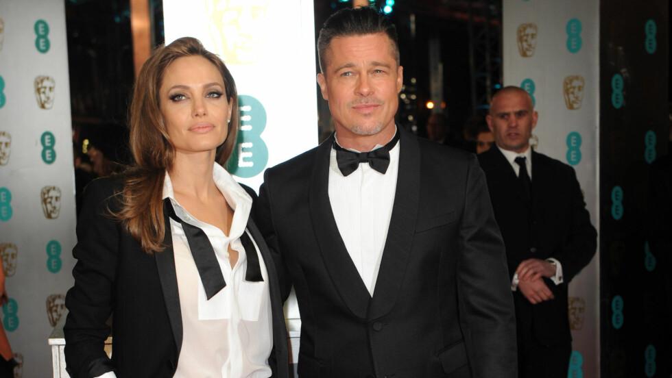 STILIG PAR: Brad Pitt og Angelina Jolie var kveldens mest matchende par på BAFTA: Foto: Stella Pictures