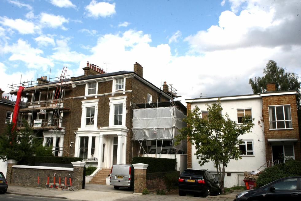 LUKSUSHJEM: Stjerneparet har slått sammen tre hus for å bygge sin enorme bolig i London. Foto: REX/Beretta/Sims/All Over Press