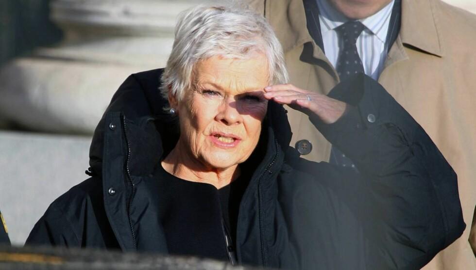 MISTER SYNET: Judi Dench har fått forkalkninger på netthinnen og er i ferd med å miste synet.  Foto: All Over Press